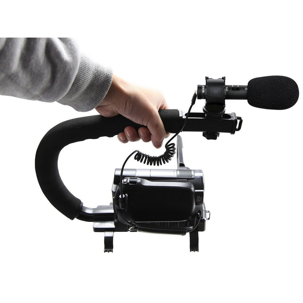 Sevenoak BY-PVM50 On-Camera Stereo Video Microphone Including Windscreens /& Case Compatible with Canon Nikon DSLR Camera Sony Panasonic Camcorders X//Y Stereo Condenser Video Microphone