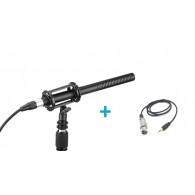 Boya BY-BM6060 Micrófono de cañón profesional + Adaptador XLR/Mini Jack 3.5mm