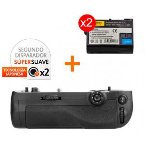 Kit de Empuñadura Gloxy GX-D16 + 2 Baterías EN-EL15