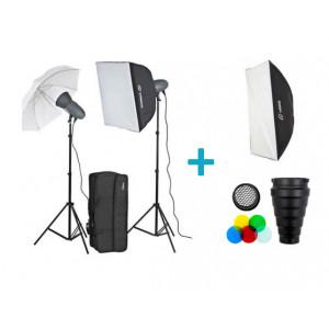 Kit de estudio profesional VL-400 Plus Softbox Extra