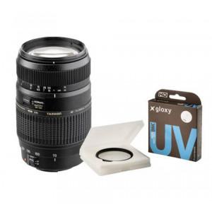 Kit Tamron 70-300mm f/4.0-5.6 Canon EOS + Gloxy filtro UV