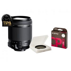 Kit Tamron 18-200mm f/3.5-6.3 Canon + Filtro CPL Gloxy