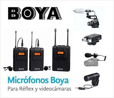 Micrófonos Boya para réflex