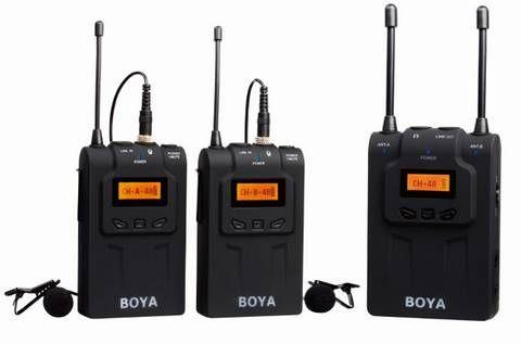 Micrófono Lavalier Inalámbrico UHF Boya BY-WM8