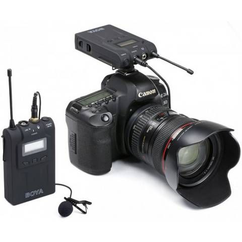 Boya BY-WM8 Dual Channel UHF Wireless Microphone System + 2.5mm Adapter