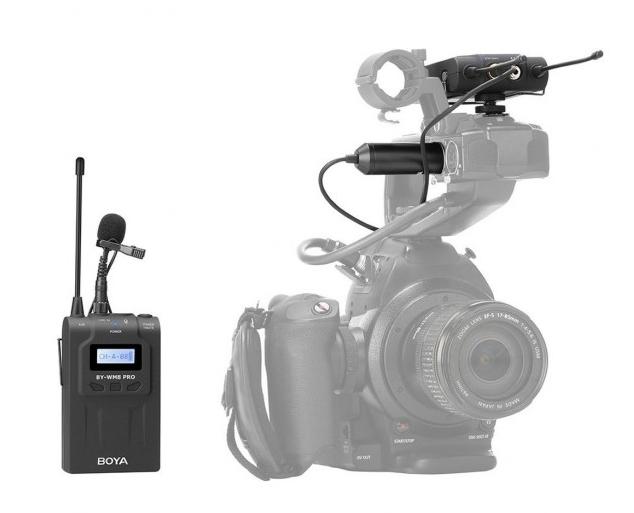 Boya BY-WM8 Pro K1 Wireless Microphone Dual-Channel Lavalier UHF