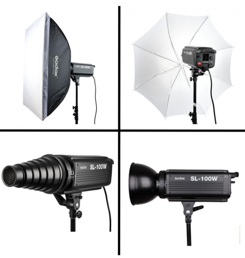 Godox SL-100W 5600K LED Video Light Bowens