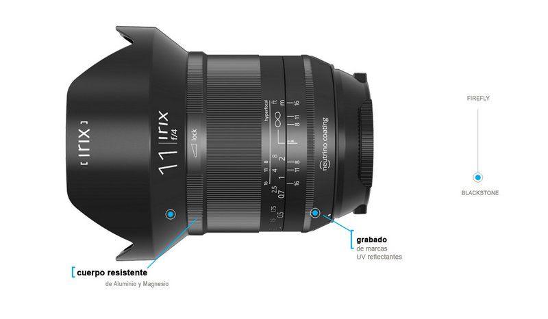 Irix 11mm f/4.0 Blackstone Objetivo Gran Angular