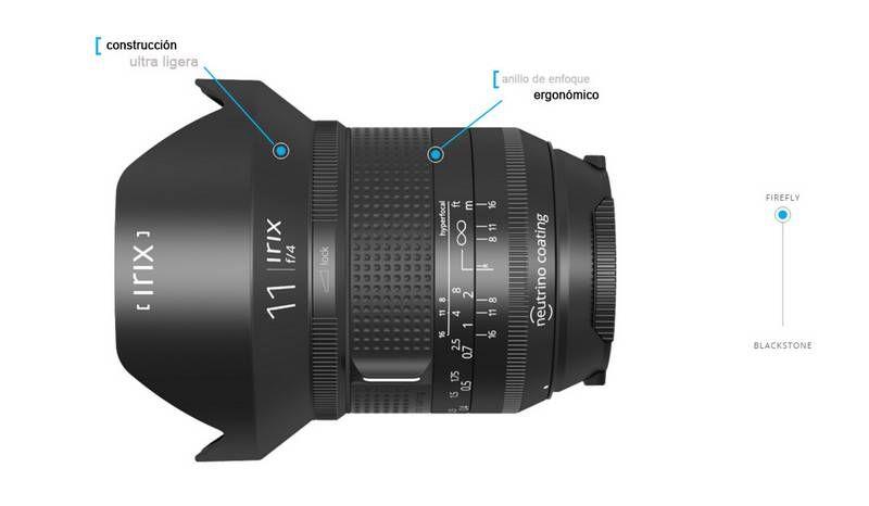 Irix 11mm f/4.0 Firefly Objetivo Gran Angular