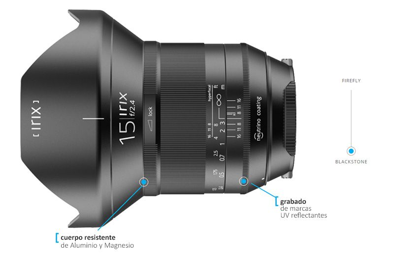 Irix 15mm f/2.4 Blackstone Objetivo Gran Angular