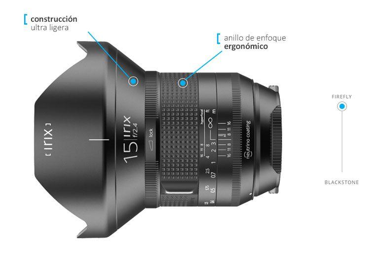 Irix 15mm f/2.4 Firefly Objetivo Gran Angular