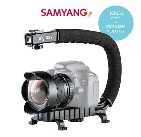 Samyang Fisheye 8mm and Stabilizer Video Kit