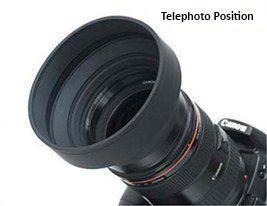 3 in 1 Rubber Lens Hood 58mm
