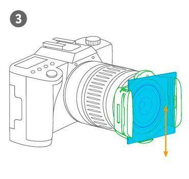 Kit Portafiltros tipo P + 4 Filtros ND Cuadrados