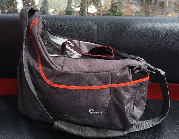 Lowepro Passport Sling III Bolsa Gris / Naranja