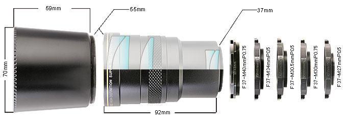 Lente telefoto Raynox HDP-7700ES 3.0x