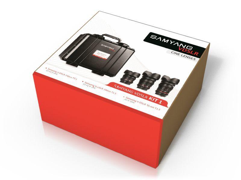Samyang VDSLR Cine Kit 1 14mm, 24mm, 35mm Lenses Sony E
