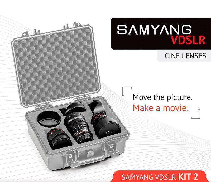 Samyang Cine Lens Kit 2 14mm, 35mm, 85mm Sony E