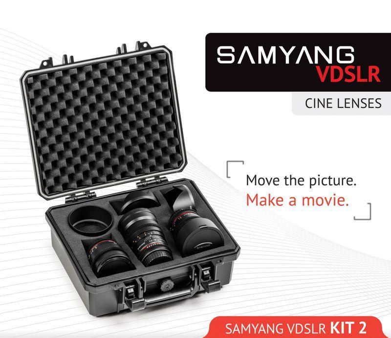 Samyang Cine Lens Kit 14mm + 35mm + 85mm for Fujifilm FinePix S5 Pro