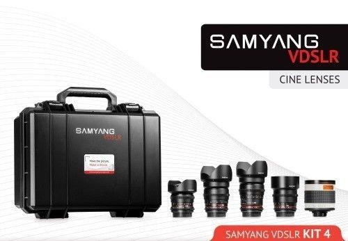 Samyang Cine Lens Kit 14mm + 24mm + 35mm + 16mm + 500mm for Fujifilm FinePix S3 Pro
