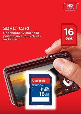 SanDisk SDHC 16GB Card Class 4