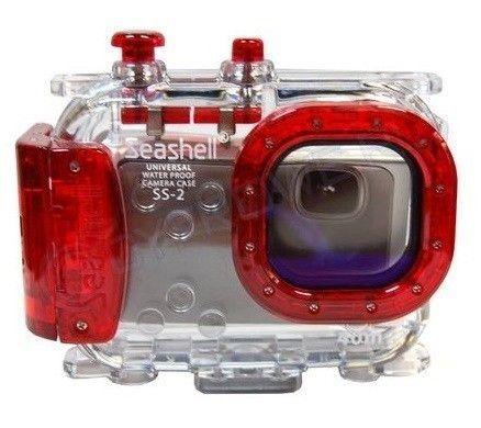 Carcasa submarina universal para cámaras compactas Seashell SS-2 Roja