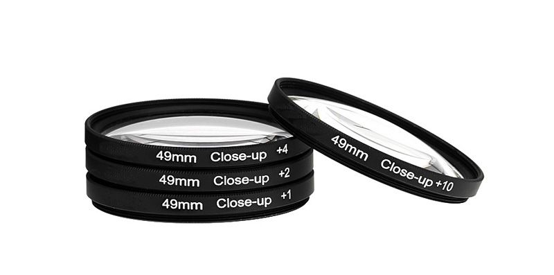 4 Close-Up Filters Kit (+1 +2 +4 +10) 49mm