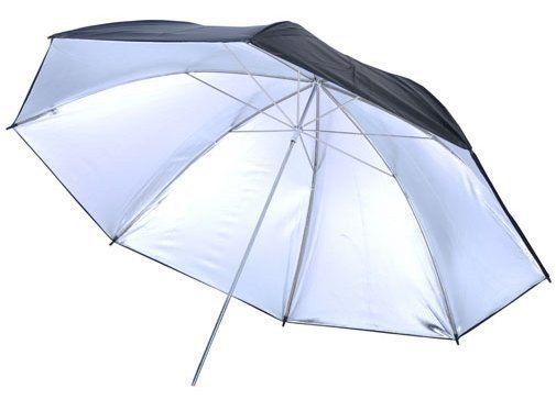 Visico UB-003 80cm Photographic Umbrella Silver / Black