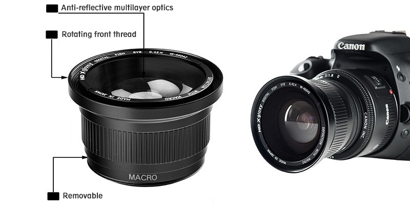 Fish-eye Lens with Macro for Kodak DCS Pro 14n