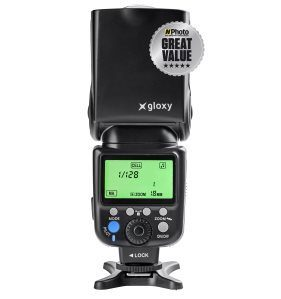 Gloxy TTL HSS Flash + Gloxy GX-EX2500 External Battery for Nikon Coolpix P5000