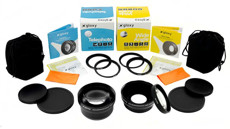 Megakit Gloxy Gran Angular, Macro y Telefoto L