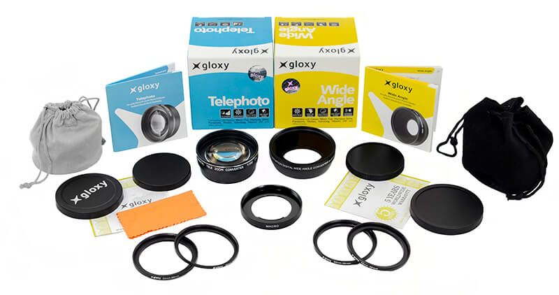 Megakit Gloxy Gran Angular, Macro y Telefoto M