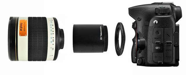 Gloxy 500-1000mm f/6.3 Mirror Telephoto Lens for Nikon for Fujifilm FinePix S5 Pro